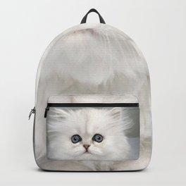 White Kitty Cat Backpack