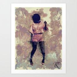 Amanda's Groove Art Print