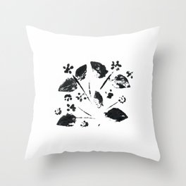 046/100: STRAGGLER DAISY [100 Day Project 2020} Throw Pillow