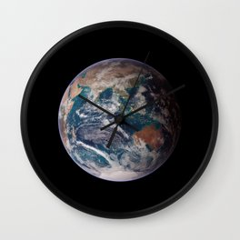 The Blue Marble Eastern Hemisphere - Earth From Space Wall Clock