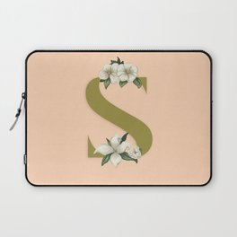 S with flowers Laptop Sleeve