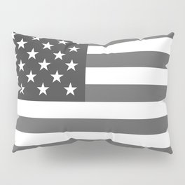 American flag in Gray scale Pillow Sham
