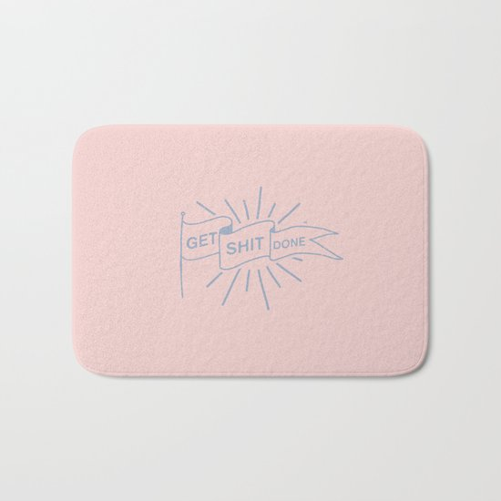 GET SHIT DONE PASTEL Bath Mat