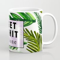 get shit done Mugs featuring Get Shit Done  by Vasare Nar