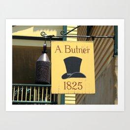 Winston-Salem, NC - Old Salem Hat Shop 2009 Art Print