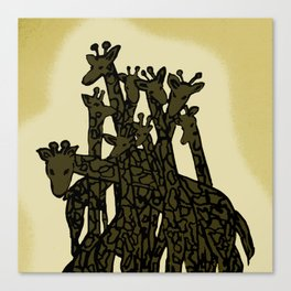 Zen Tangled Giraffe Canvas Print