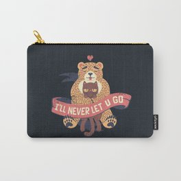 Ill Never Let You Go Bear Love Cat Carry-All Pouch