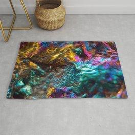 Rainbow Oil Slick Crystal Rock Rug