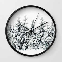 Snow Porn Wall Clock