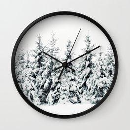 Snow Porn Wall Clock