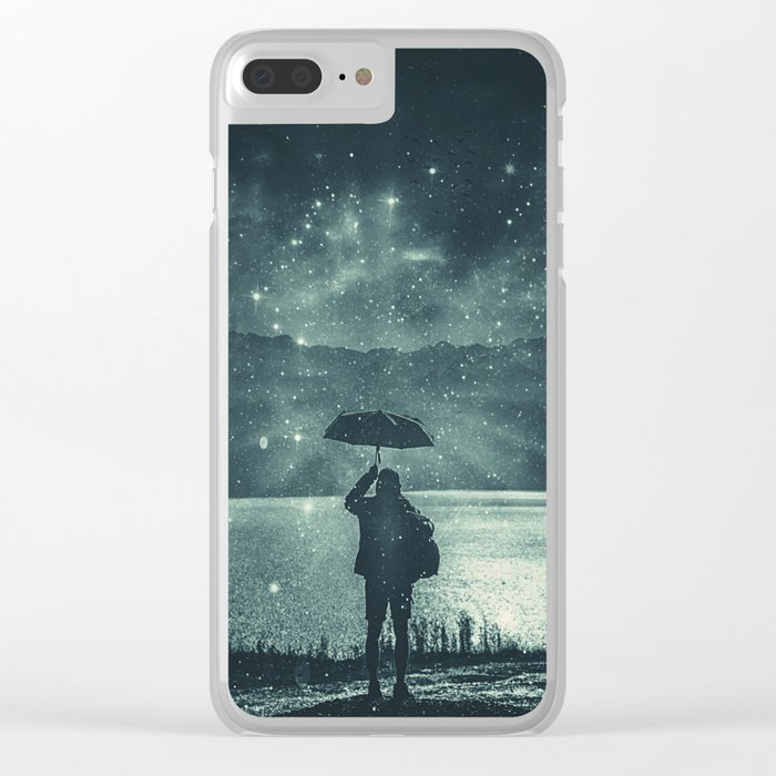 Sideral Rain Clear iPhone Case