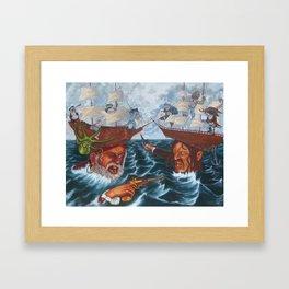 For Fear of the Depths Framed Art Print