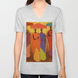 African American Masterpiece 'African Royalty' by Ellis Wilson Unisex V-Neck