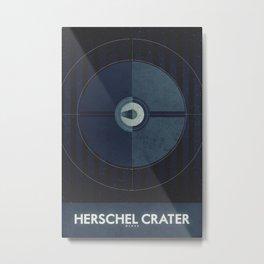 Mimas - Herschel Crater Metal Print