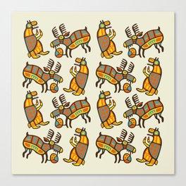 Moose & Bear Canvas Print