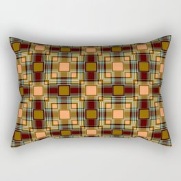 Brown abstract Checkered pattern . Rectangular Pillow