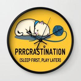 Prrcrastination Wall Clock