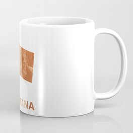 Montana map outline Peru hand-drawn wash drawing Coffee Mug