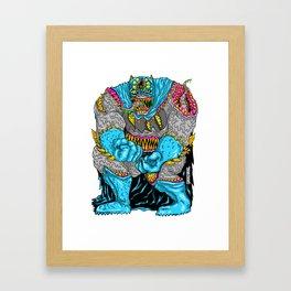 DARK MONSTER Framed Art Print