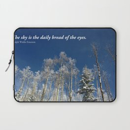 The sky is the daily bread of the eyes Laptop Sleeve
