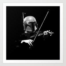 Dark Violinist Fett Art Print