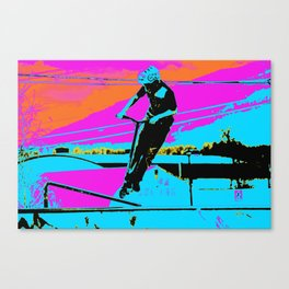 The Bunny Hop - Scooter Stunt Canvas Print