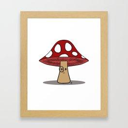 Dapper 'Shroom Framed Art Print