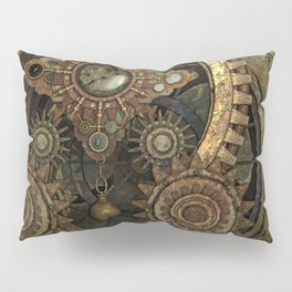 Rusty Vintage Steampunk Gears Pillow Sham