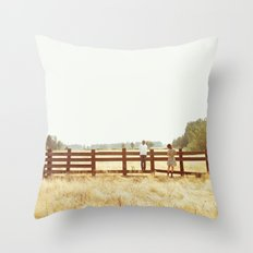Fence Standing Throw Pillow