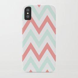 Mint & Coral Chevron iPhone Case