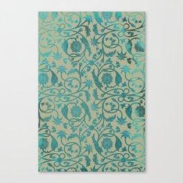 Blue Lotus Pattern Canvas Print