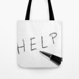 Pen Help Black White Tote Bag