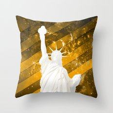 Liberty Gold Pop Art Throw Pillow