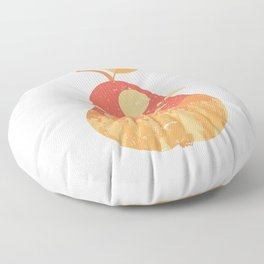 Vintage Panorama Pear Floor Pillow