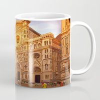 florence Mugs featuring Florence by Sara Cooley