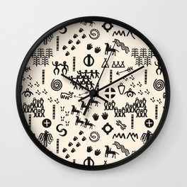Peoples Story - Black and Creme Wall Clock