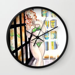 Cleo Clementine Wall Clock