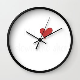 Beach My Heart is Down the Shore Jersey Shore Wall Clock
