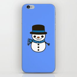 Cute snowman iPhone Skin