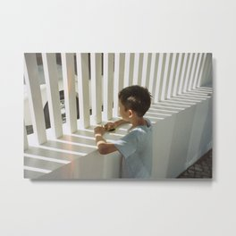 Little boy's gaze Metal Print