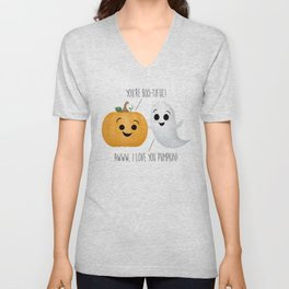 Boo-tiful Couple | Pumpkin & Ghost Unisex V-Neck