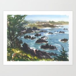 Hwy 1 North to Hwy 116 looking South Art Print