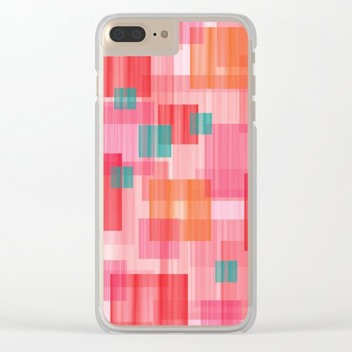 Abstract Red Clear iPhone Case