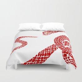 Red  big snake Duvet Cover