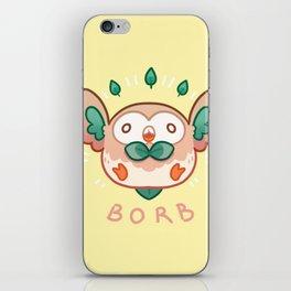 Rowlet Borb iPhone Skin