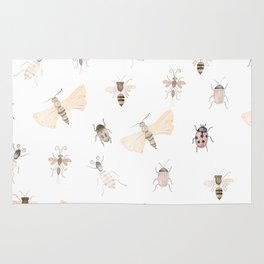 Insects and Bugs Pattern Rug