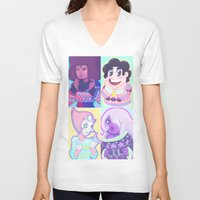 sweater V-neck T-shirts featuring Sweater Gems by enerjax