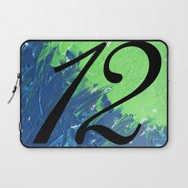 Blue & Green, 12, No. 1 Laptop Sleeve