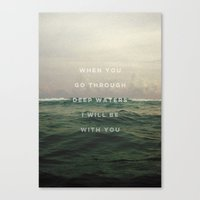 pocketfuel Canvas Prints featuring DEEP WATERS by Pocket Fuel