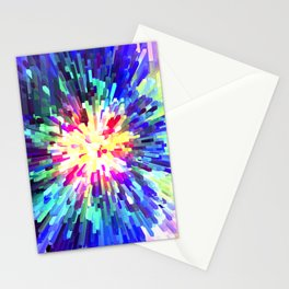 Sapphire White Burst Stationery Cards